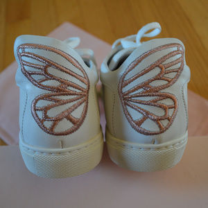 NIB Sophia Webster Bibi Butterfly Leather Sneakers